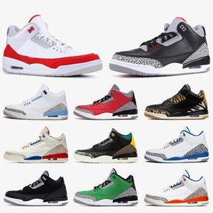 nike air retro jordan 3s Chaussure de basket-ball pour formateurs pour hommes 3s III Moka chlorophylle Katrina Knicks rivaux Bricoleur ciment noir Grateful Red White Designer