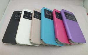 Deri Kapak Telefon Kılıfı Için Samsung Galaxy Mega 2 G750F G7508 G7508Q On7 G6000 G600 On5 G5500 Kazanmak Duos i8552 Pencere Görünüm Şok Geçirmez Kapak