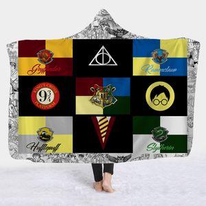 Sıcak tarzı kukuletalı pelerin sihirli şapka battaniye çocuk şekerleme giyen şapka battaniye Harry Potter yeni hat