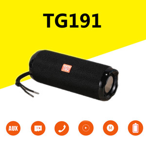 TG191 Portable Speaker Outdoor Wireless Bluetooth Speaker Waterproof 20W 3D Music Column Subwoofer Boom Box FM TF Card Aux