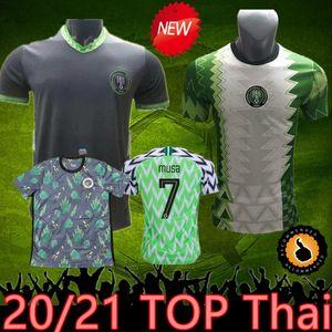 2021 Nigelia Soccer Jersey Home Away 20 21 Nigelia Jersey Suitesuit Okechukwu Okochaka Ahmed Musa Mikel Iheanacho Shirt Football Hommes Uniforme