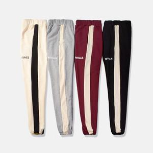 Nueva hiphop ropa de moda del basculador toque el fondo de la raya lateral Sweatpants Pantalones
