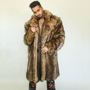 Winter Herbst Faux Nerz Lederjacke für Männer verlieren warme Pelzledermantel Männer nehmen Jacken Jaqueta de couro Mode Freizeit Graben