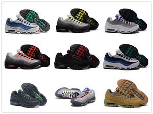 95 OG pattini correnti del mens 95s aria GOLD Bred Palestra laser rosso fucsia Gradiente maxes Bianco Blu classico nero Uomini Sport Sneakers 40-46