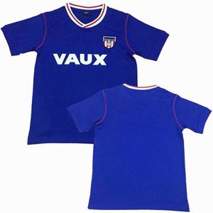 Sunderland 1990 camisa de futebol retro 90 camisa azul clássico do futebol do vintage S-2XL
