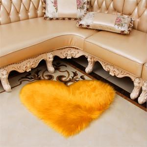 Produttori imitazione all'ingrosso tappeto di lana tavolo vicino alla finestra Moquette Camera baia caffè mat 70 * 90cm peluche può essere personalizzato modello LOGO
