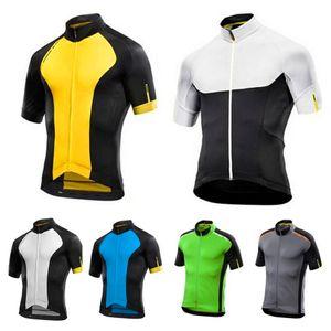 2020 men Cycling Jerseys road bike Short sleeve wear Summer Cycling Clothing for men Mountain Bike Sweatshirt-6Pieces
