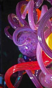 Moderne Kunst Glas Kronleuchter Rohre Chihuly Stil handgefertigte mundgeblasenem Glas Kunstglas italienischen Stil Rohre Pendelleuchten