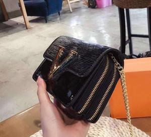 Diseñador mujeres bolso de los bolsos de hombro de lujo superior del nuevo del estilo Señora de la cadena Crossbody de alta calidad de la manera de la cremallera doble bolsa