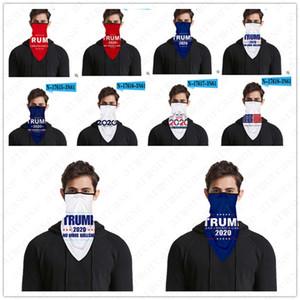 Multifuncional Mágico Turban Scarf Donald Trump Dustproof Rosto máscara protetora Outdoor Sports Ciclismo Scarf 2020 EUA Presidente Eleição D52814