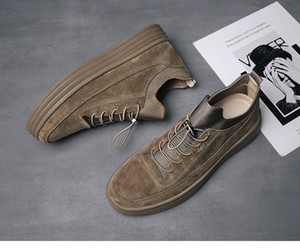 2019 fashion spring shoes thick bottom high board shoes for the south Korean version of young03 fashion male students with casual shoes