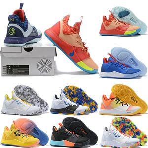 2019 نيو بول المحدودة 3G PG 3 EYBL أحذية كرة السلة لرخيصة بالمديل 93552 P. جورج PG3 III BHM مصمم أحذية رياضية فاخرة الحجم 40-46