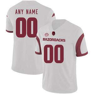 Özelleştirme Arkansas Herhangi İsim Numara Kırmızı Beyaz 4 Ty Katlı 5 Rakeem Boyd 15 Cole Kelley 16 La Michael Pettway NCAA Football Kolej Jersey