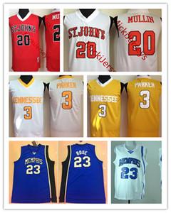 NCAA # 20 Крис Маллин Сент-Джонс Red Storm Баскетбол Джерси Кэндис Паркер Теннесси Добровольцы Джерси Деррик Роуз Мемфис Тайгерс Джерси
