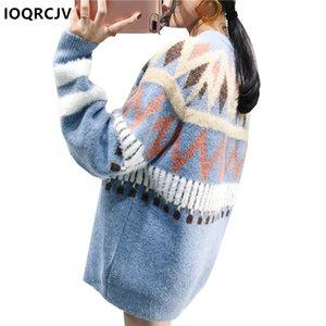 Arco iris suéter 2018 otoño del resorte de Inverno Blusa Femenina Tire Femme Hiver Pullover Mujeres suéteres de capucha para mujeres IOQRCJV F53
