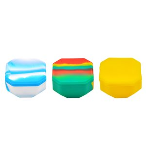 COURNOT Big Capacity Silicone Container For Tobacco Wax Dry Herb Multi Use Wax Jar Hexagon Shape Hookah Vaporizer Accessories