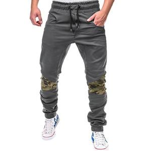 Calças dos homens Primavera-Verão Casual Elastic cintura fina caber calças compridas de moda masculina Sweatpants Cargos pantalones hombre