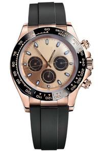 MASTER Orologi guardare COSMOGRAPH116509 di lusso in acciaio inox orologio meccanico automatico, quadrante luminoso eccellente con 40 millimetri di gomma quadrante