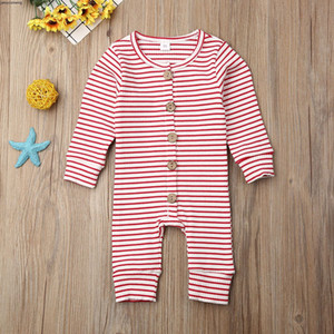Rompers Outlet Baby Infant Girls Boys Striped Stripe Jumpsuits Autumn Boutique Children Knitted Warm Onesies Outfits Kids Climbing Clothes