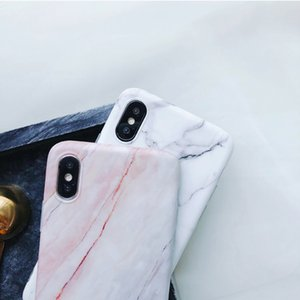 Ase para iPhone XR XS Max X 6 6S 7 8 Plus Classic Marble Mate IMD Protector suave Teléfono cubierta trasera Funda Bolsa Shell Coque