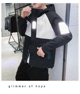Spring Autumn Casual Loose Hooded Jackets Coats 19ss Mens Designer 3M Reflective Jacket