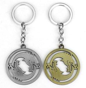 H394 60pc / lot DHL 6kinds Art- und Weiseschnee-Spiel Schlüsselring-Bronzespieluhr Keychain Famouse Film-Handtaschen-Auto-hängende Legierungs-klassische Schlüsselkette