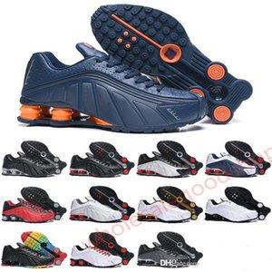 NIKE SHOX R4 GS 20202 Hococal originale CONSEGNA scarpe sportive R4 per la Mens donne Triple Black Gold Bianco OZ NZ 301 delle scarpe da tennis Mens Trainers Scarpe da corsa