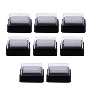 80pcs vide vide encre Pad Pas d'encre pour la main éponge d'encre Pad Rubber Stamp Inkpad bricolage scrapbooking Décorations