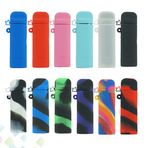 Novo Silicone Caso Silicon Skin Cover Manga De Borracha Capas Protetoras Para SMOK Novo Vape Pen Pod Cartucho Kit DHL Livre