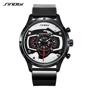 de SINOBI Car velocidade Mens relógios desportivos homens criativos Relógio de pulso Punk impermeável relógio de quartzo militares Reloj Hombre Corrida Relógios