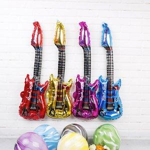 Haute Qualité New Guitar Foil hélium Ballon 82cm avec musique Bell Inséré Couleurs multiples mini-ballons de papier d'aluminium articles de fête Globos
