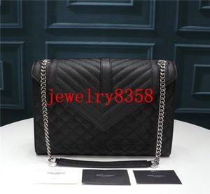 Bolsos de diseño Caviar de cuero de vaca 2020 marca Diseñador de bolsos de lujo monederos mujer billetera Bolso de metal de cuero genuino con caja