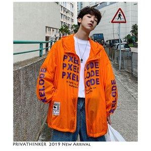 Herren Brief Harajuku Jacke 2019 Herren Dünne Sonnencreme Streetwear Jacken Und Mäntel Damen Kapuzenjacke Windbreaker
