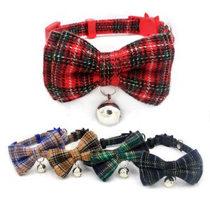 Dog collar decorations Gentalman Pet Collars Bow Tie Universal Cat Accesorries Adjustable Collar with Bell Dog Collar for Small Dog XQ04
