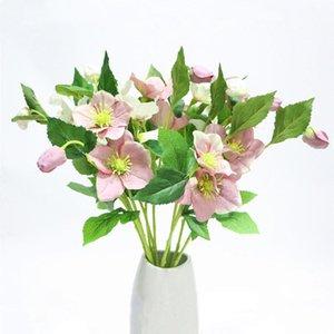 3 Jefes falso rama de la flor artificial de la decoración de las flores frescas flores de látex rosas para la boda del ramo de decoración