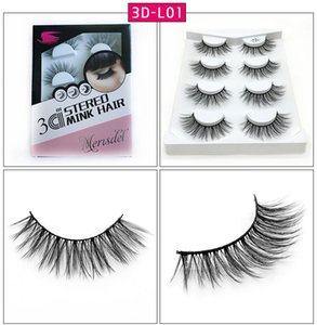 4 pairs natural false eyelashes fake lashes long makeup 3d mink lashes eyelash extension mink eyelashes for makeup L Series