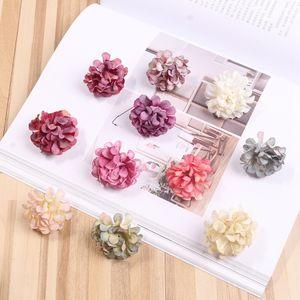 Düğün Ev Dekorasyon DIY Çelenk Hediye Kutusu Scrapbook Craft Yapay Çiçek İpek Ortanca Çiçek Başkanı RRA2107 Malzemeleri