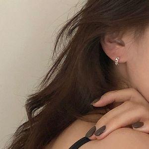 Womens 925 Sterling Silver Mesh Red Elegant Korean Simple Earrings Earrings Small Twist Earrings