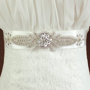 라인 석 웨딩 벨트, Bridal Sash, Wedding Sash 라인 석 및 진주 꽃 장식 새시