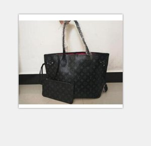 2pcs set qulity classic Designer womens handbags flower ladies composite tote PU leather clutch shoulder bags female purse with wallet 037