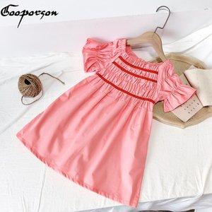 Gooporson Vestidos корейских летних детей платья для девочек 2-7 лет маленькие девочки костюм Бич принцессы платье Элегантная одежда