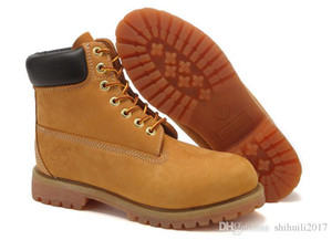 2020 Authentic Brand Motorcycle Boots Men Casual 6-Inch Premium Boots Women Waterproof outdoor 10061 Wheat Nubuck boots size 36-46