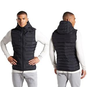 Attivo Style Vest Mens giacche casual all'aperto in esecuzione e la formazione con cappuccio cappotti spessi solido Mens di colore Cappotti