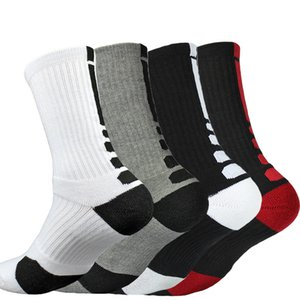 Terry Towel Sports Socks Professional Elite Basketball Sock Long Knee Athletic Compression Thermal Socks Quick Drying High Quality