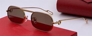 Großhandel neue Modedesigner Sonnenbrille 0112 Metallrahmen Vintage-Mode-Stil beliebte Design-Stil Top-Qualität mit Box
