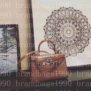 borse di seconda generazione 22CM coccodrillo 2020 Totes Borse a tracolla con le donne della signora del cuoio genuino di modo borsa di fabbrica all'ingrosso