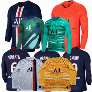 2019 2020 PSG lange Hülse Fußballjerseys Paris GANA Mbappe K.NAVAS zu Hause weg dritten Torhüter 19 20 Fußball voll Hemd S-4XL