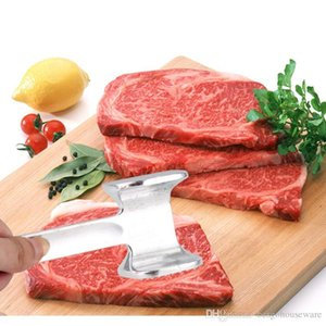 Toptan Et Tenderizer Çekiç Paslanmaz Çelik Steak Pounders Sığır Domuz Tavuk Dana Kümes Mutfak Aletleri Et Çekiç M.Ö. BH0559