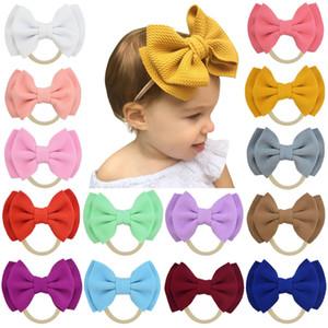 Baby Nylon Headbands Hairbands Hair Bow Elastics for Baby Girls Newborn Infant double bow headdress