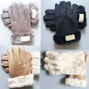 Moda Fur Luvas Luvas grife Mulheres Homens Inverno luvas quentes de luxo muito Capas boa qualidade Cinco Dedos